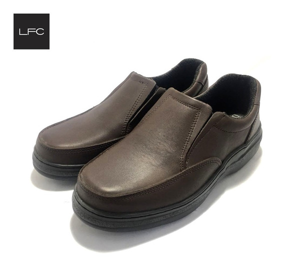 Zapato De Hombre Confort Elastico Cuero Legitimo (23/853)