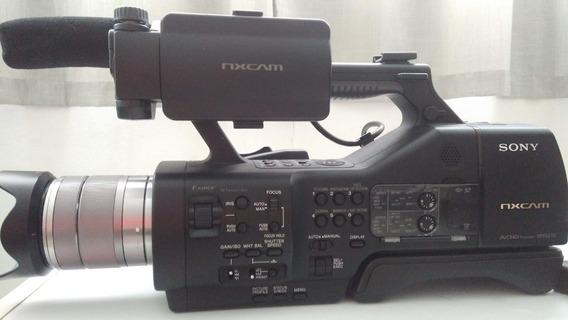 Filmadora Sony Nex Ea-50. Baterias, Led, Cartão E Mochila