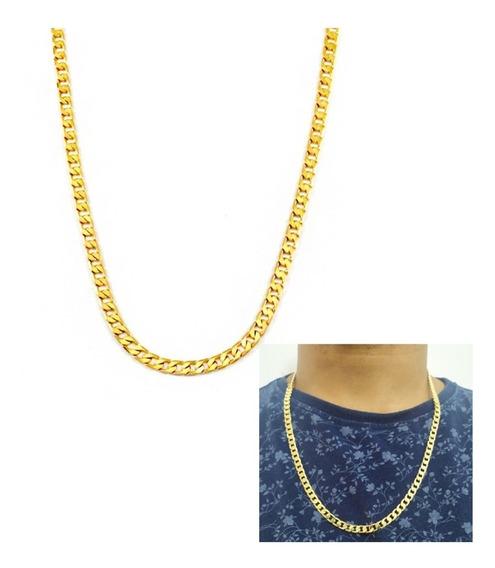 Corrente Grumet Banhada A Ouro Em Camadas Ref. Qm10c