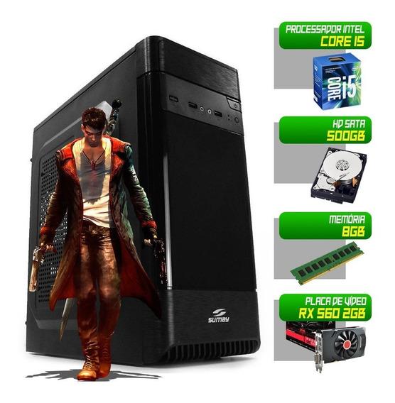 Computador I5 3470 500gb 8gb Rx 560 2gb 128bit Pc Desktop
