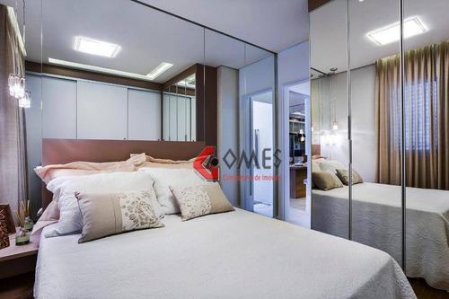 Apartamento Com 2 Dormitórios À Venda, 55 M² Por R$ 314.900,00 - Baeta Neves - São Bernardo Do Campo/sp - Ap0998