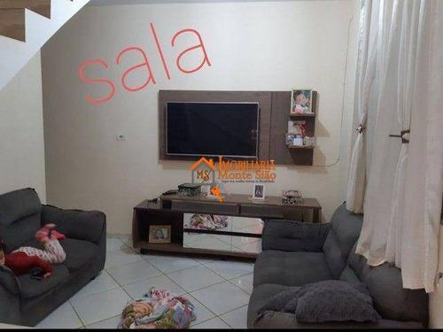 Imagem 1 de 6 de Sobrado Com 3 Dormitórios À Venda, 102 M² Por R$ 302.000,00 - Anita Garibaldi - Guarulhos/sp - So0821