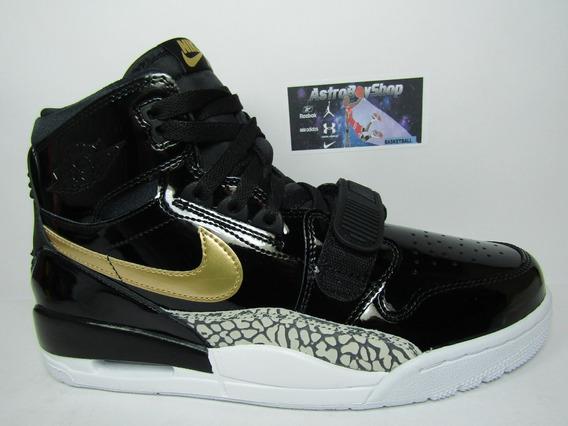 Jordan Legacy 312 Black Gold Charol (30 Mex) Astroboyshop