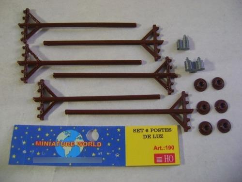Imagen 1 de 10 de Nico 6 Postes De Luz 3d Miniature World H0 (mntw 71)