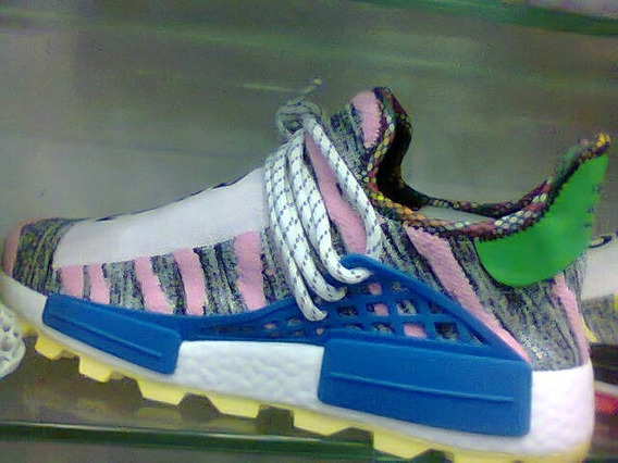 Tenis adidas Pharrell Willians Rosa E Azul Nº41 Original