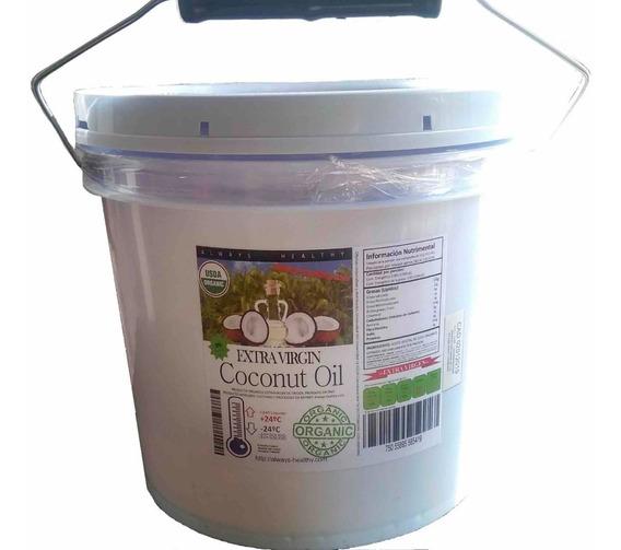 Aceite Coco Comestible Orgánico Exvirgen Prensado/frío 1galn
