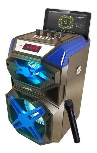 Parlante Panacom Skyline K14WM portátil con bluetooth azul 220V