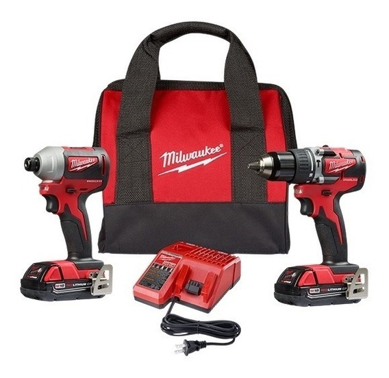 Kit Taladro Percutor/destornillador De Impacto 18v Milwaukee
