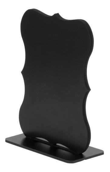 Lousa Memo Blackboard C/suporte Retro 15cm Dupla Face