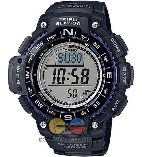 Casio Reloj Triple Sensor Brújula Altímetro Barómetro 10 Bar