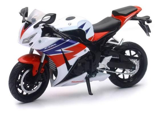 Moto Honda Cbr1000rr Escala 1:12 New Ray Blanco/rojo/azul