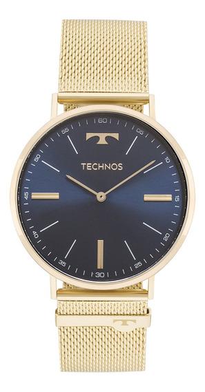 Relógio Technos Esteira Dourado 2025ltk/4a