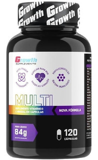 Multivitamínico 700mg 120 Cápsulas Growth Supplements