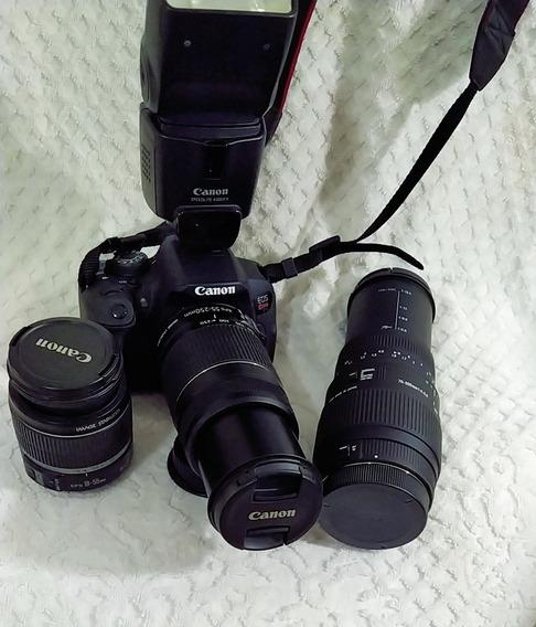 Máquina Fotográfica Canon Rebel T5i Incluso Várias Ferrament
