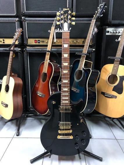 Gibson Les Paul Studio Ebony Acc Dorados Estuche