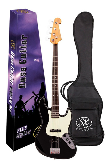 Bajo Sx Electrico 4 Cuerdas Jazzbass Funda Pua Combo Fjb62