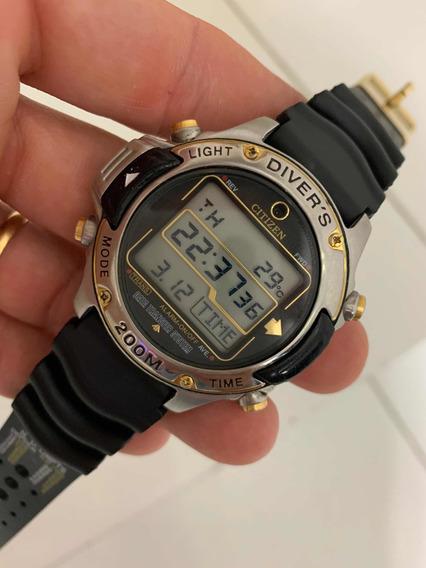 Relógio Citizen Hyper Aqualand D203 Série Ouro