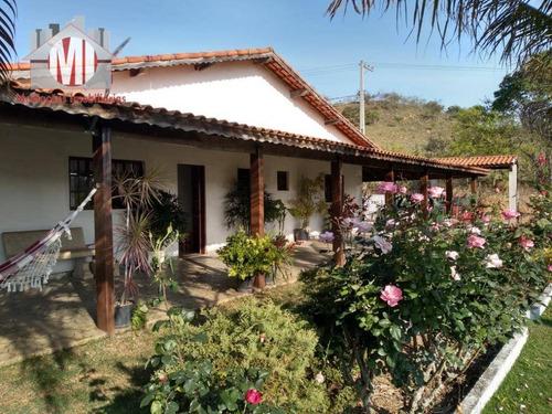 Imagem 1 de 30 de Linda Chácara Com 03 Dormitórios, Pomar Formado, Ótimo Acesso À Venda, 2000 M² Por R$ 420.000 - Zona Rural - Pinhalzinho/sp - Ch0523