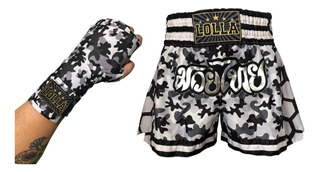 Kit Shorts Muay Thai + Bandagem Elástica Lolla