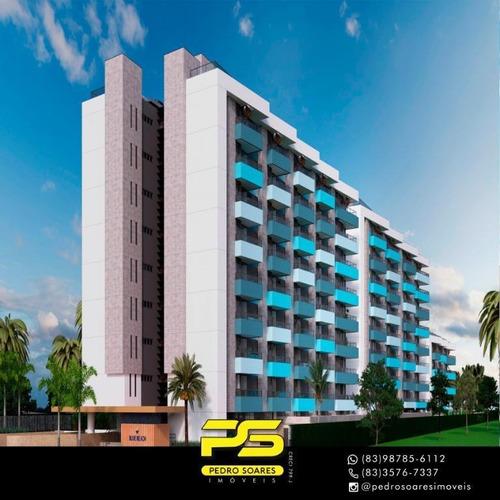 Apartamento Com 2 Dormitórios À Venda, 64 M² Por R$ 406.315 - Praia Formosa - Cabedelo/pb - Ap3107