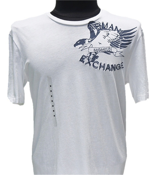 Playera Armani Exchange White Eagle