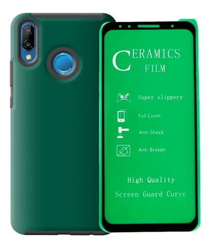 Estuche Reforzado + Vidrio 2,5d Huawei Huawei P20 Lite - P20