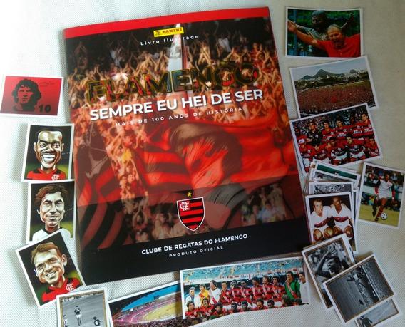 Álbum De Figurinhas Do Flamengo + Lote Com 120 Figurinhas .