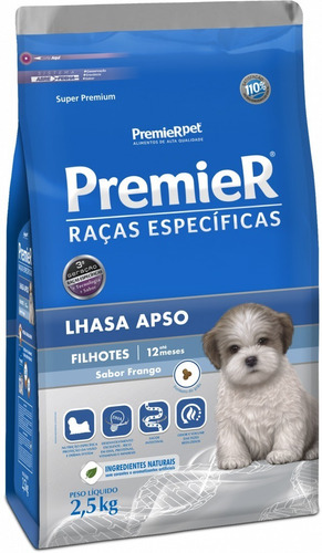 Premier Raças Específicas Lhasa Apso Filhotes 2,5kg