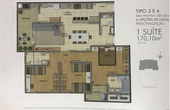 Apartamento No América Com 3 Quartos Para Venda, 135 M² - Ka1053