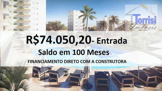 Apartamento Em Praia Grande, 02 Dormitórios Sendo 01 Suite, No Forte Ap1837 - Ap1837