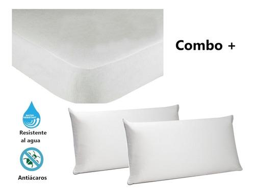 Protector Colchón Queen Impermeable 1.60 + 3 Fundas Almohada