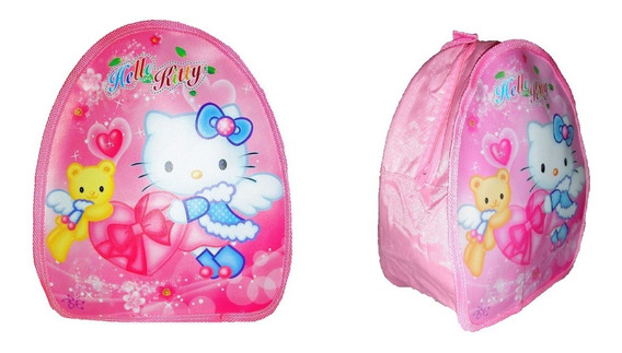 Mochila Hello Kitty Adorable Para El Jardin 27 X 22 X 7