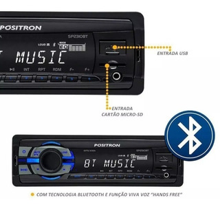 Aparelho Positron Sp2310bt Usb Sd Card Mp3 Radio Bluetooth