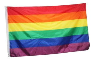 Bandeira Lgbt Gls Gay Arco Iris Tamanho 150 Por 90 Cm