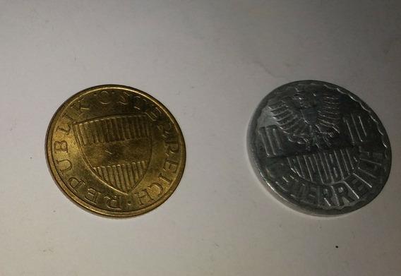 2 Monedas Austria 50 Y 10 Groschen Envio $40 Pesos
