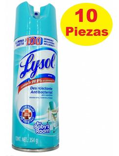 Set 10 Spray Lysol Desinfectante Antibacterial Mata Virus