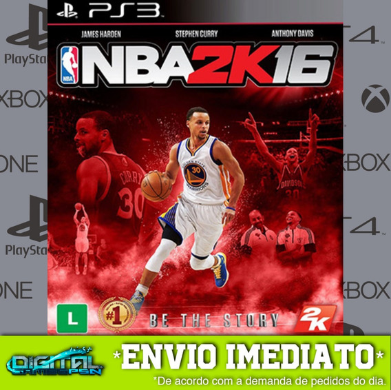 Nba 2k16 Ps3 Psn Midia Digital Envio Rapido!