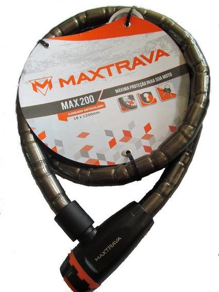 Cadeado Trava Moto Maxtravas Max200 Corrente Estepe Bike