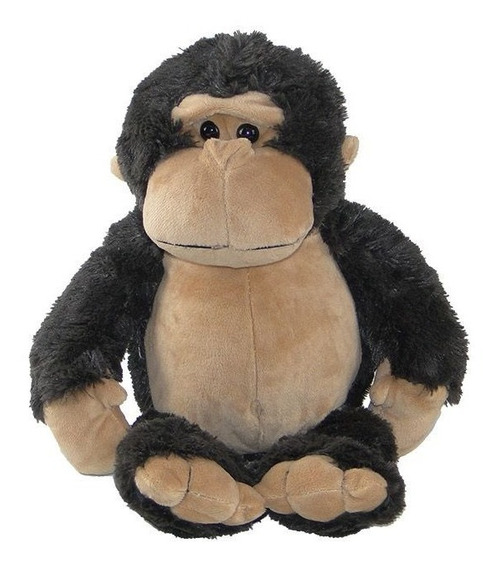 Macaco - Gorila De Pelúcia 35cm - Bichinho Safari