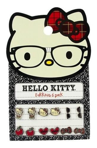 Imagen 1 de 6 de Hello Kitty Sanrio Loungefly Aros C/par Envio Gratis-cuotas!