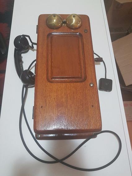 Telefone Antigo Madeira, Parede Entalhes Em Madeira, Déc 30