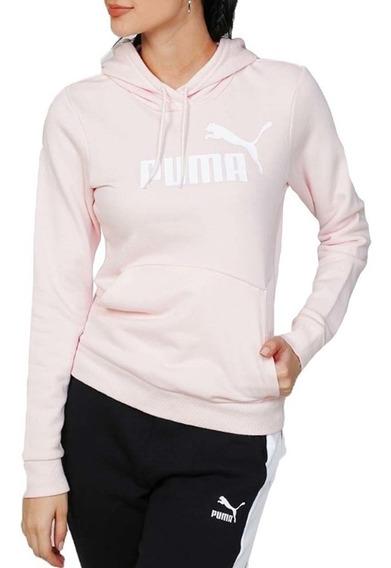 Buzo Puma Mujer Moda Essential Logo Rosa - Corner Deportes