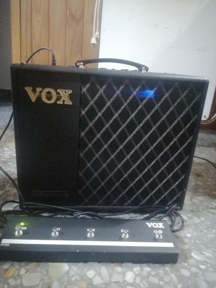 Amplificador Voxvt40 Prevalvular Con Efectos + Switch