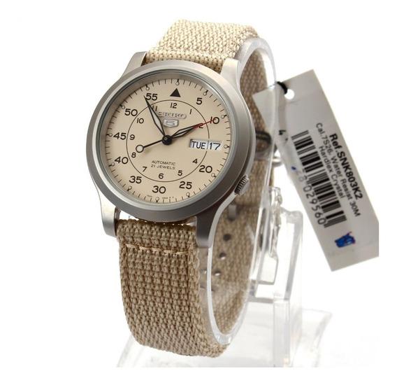 Relógio Seiko 5 Estilo Militar Automático Snk803 K2