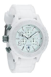 Nixon 42 20 Crono Reloj De Goma Blanco Hombremujer Talla U