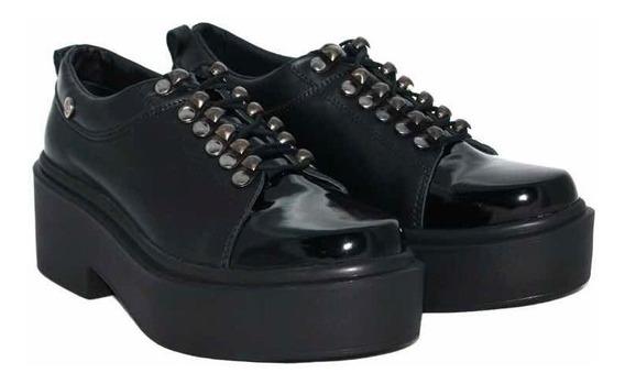 Zapato Mujer Cuero Con Plataforma Citadina Topaz