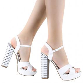 80ddbdc6d7 Sandalia Meia Pata Via Marte Branco Off White - Sapatos no Mercado ...