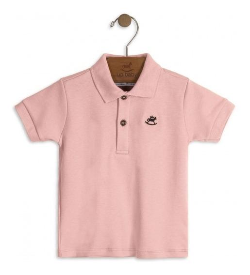 Outlet Camisa Polo Em Suedine Bebê Menino - Up Baby