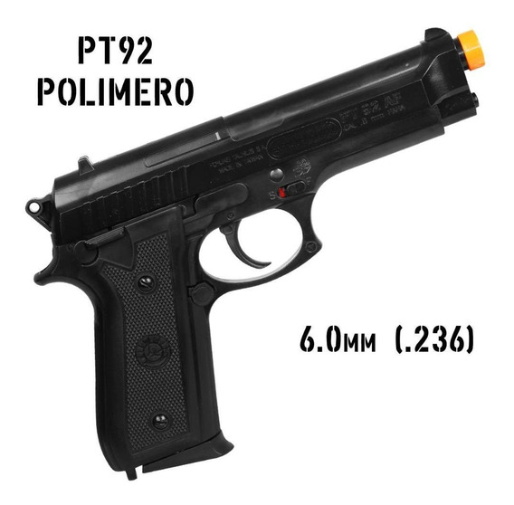 Pistola Airsoft Bolinha Pt92 6mm Mola Taurus Polímero Oferta