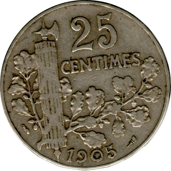 Spg - Francia 25 Centimes 1905 Nickel